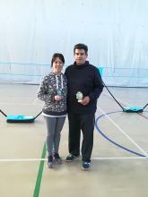 Inmaculada Martín y Javier Peñalver. Cuartos clasificados en la categoría absoluta femenina y masculina.